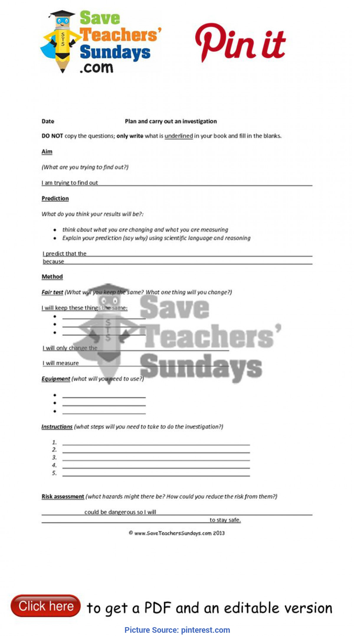 Briliant Lesson Plan For Year 4 Science 8 Best Year 4 Science Investigation Sheets Images On Pinteres
