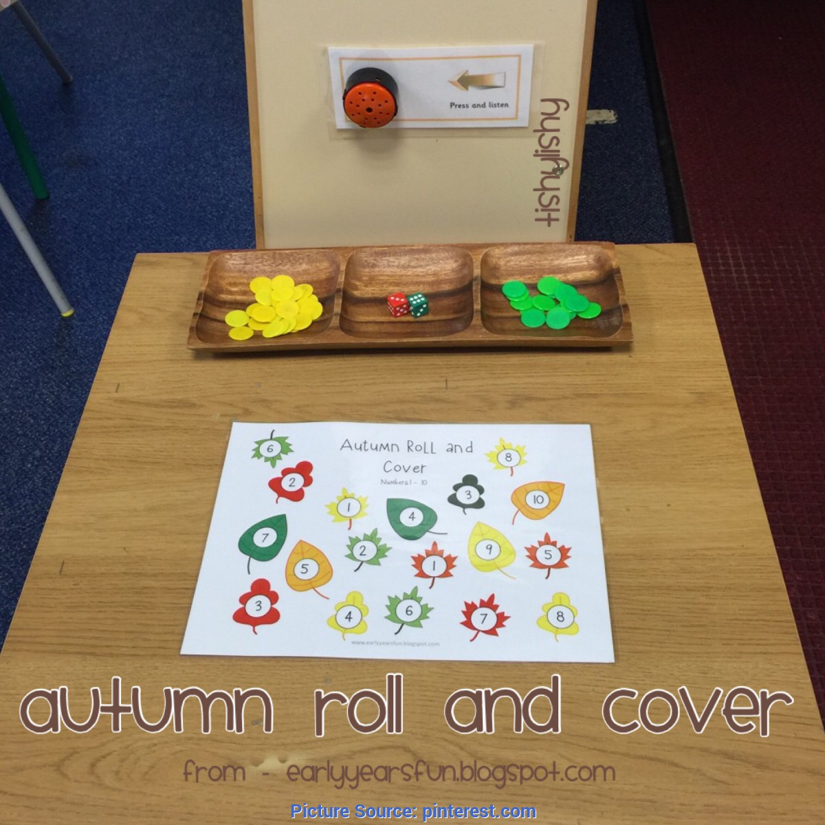 Complex Autumn Literacy Activities Early Years Autumn Roll And Write Game From Earlyyearsfun Blogspot Co Ota Tech
