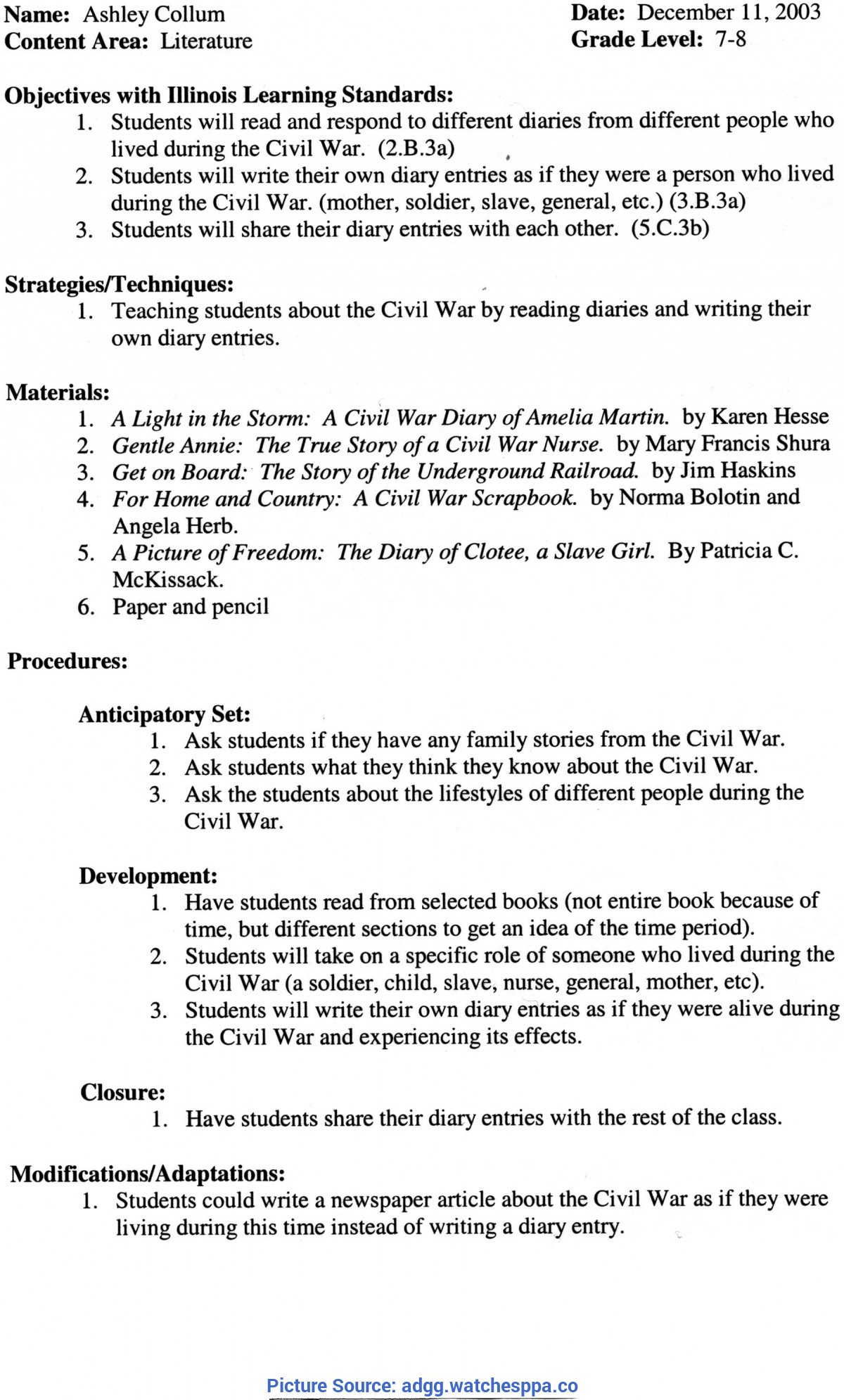 Complex Grade 8 Lesson Plan Annotated Bibliography Introduction | Writing An Annotate