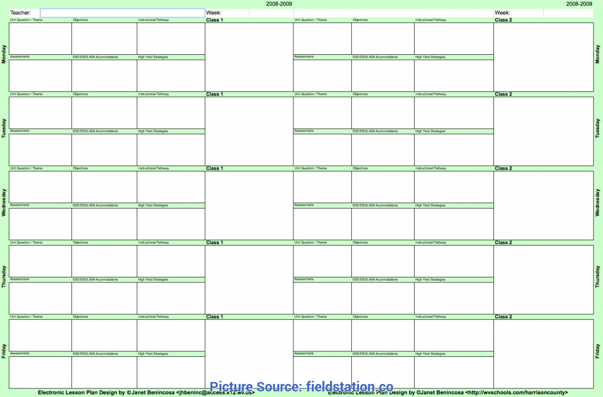 This is a photo of Teachers Planning Book Template pertaining to grade