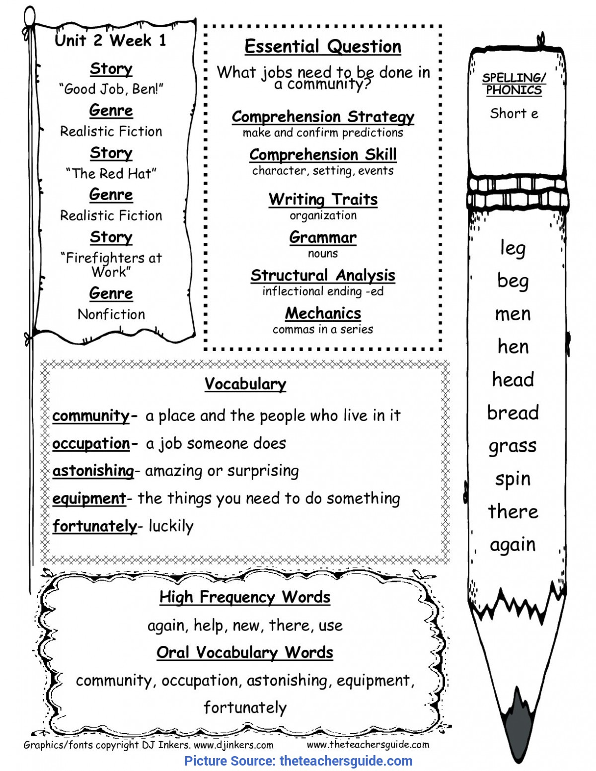 Excellent First Grade Literacy Activities Wonders First Grade Unit Two Week One Print