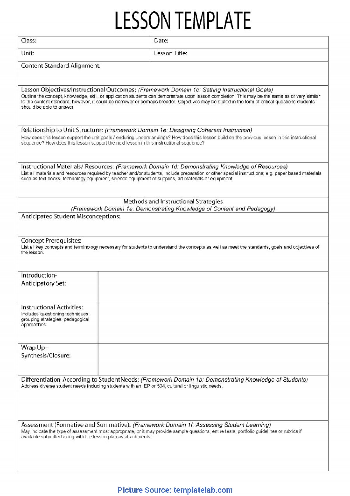 Excellent How To Make A Lesson Plan Template 44 Free Lesson Plan Templates [Common Core, Preschool, Wee