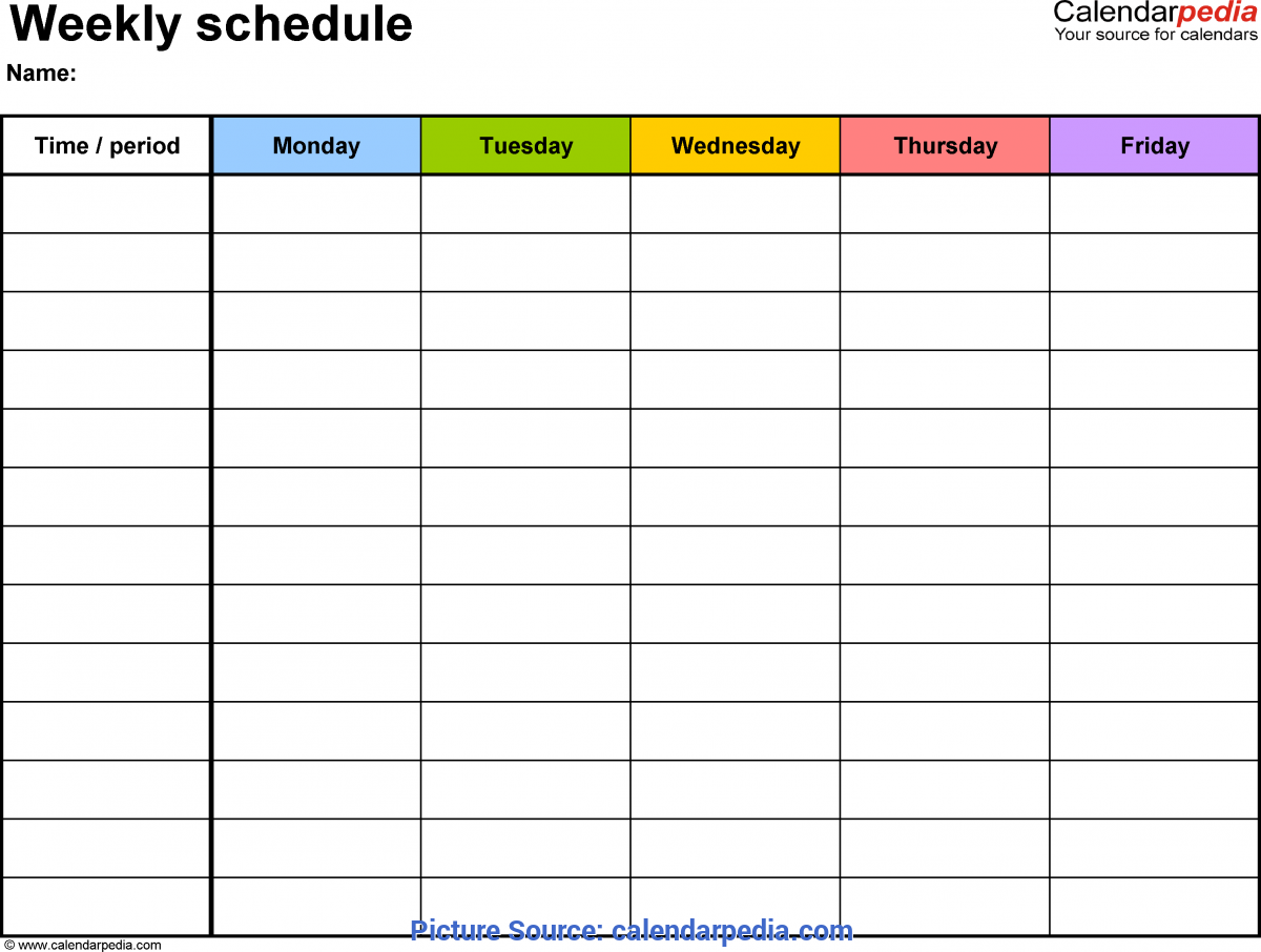 Excellent Monthly Lesson Plan Template Pdf Free Weekly Schedule Templates For Pdf - 18 Templ