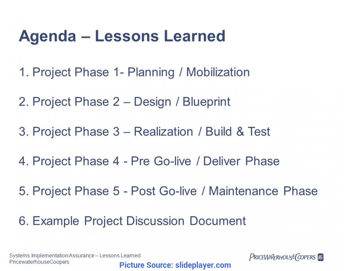 Fresh Lessons Learnt In A Project Examples Isaca Systems Implementation Assurance €? Lessons Learned Februar