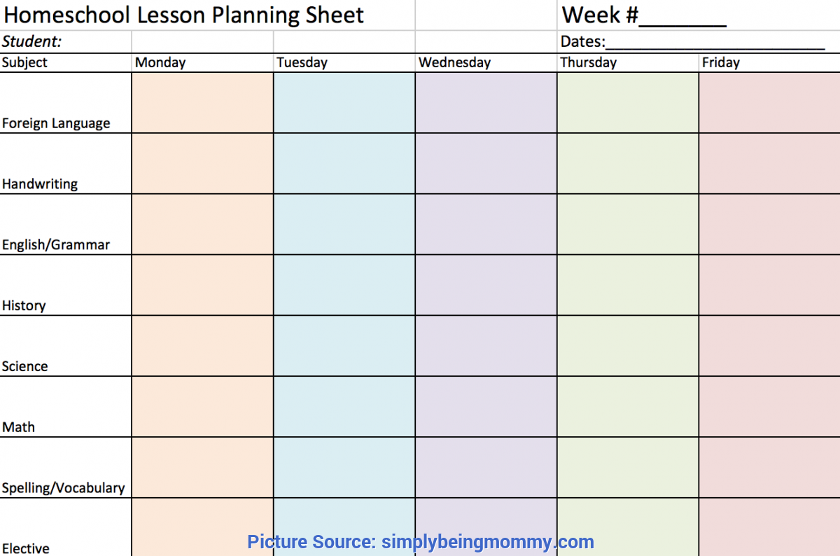 Fresh Mommy And Me Class Lesson Plans Free Homeschool Lesson Planning Sheet | Simply Being M