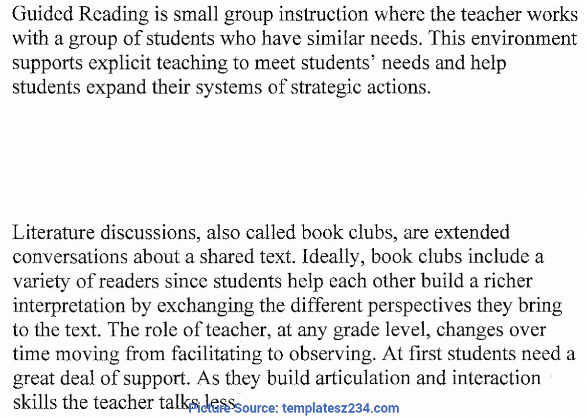 Great Guided Reading Lesson Plan Template 5Th Grade 5 Fountas And Pinnell Guided Reading Lesson Plan Templat