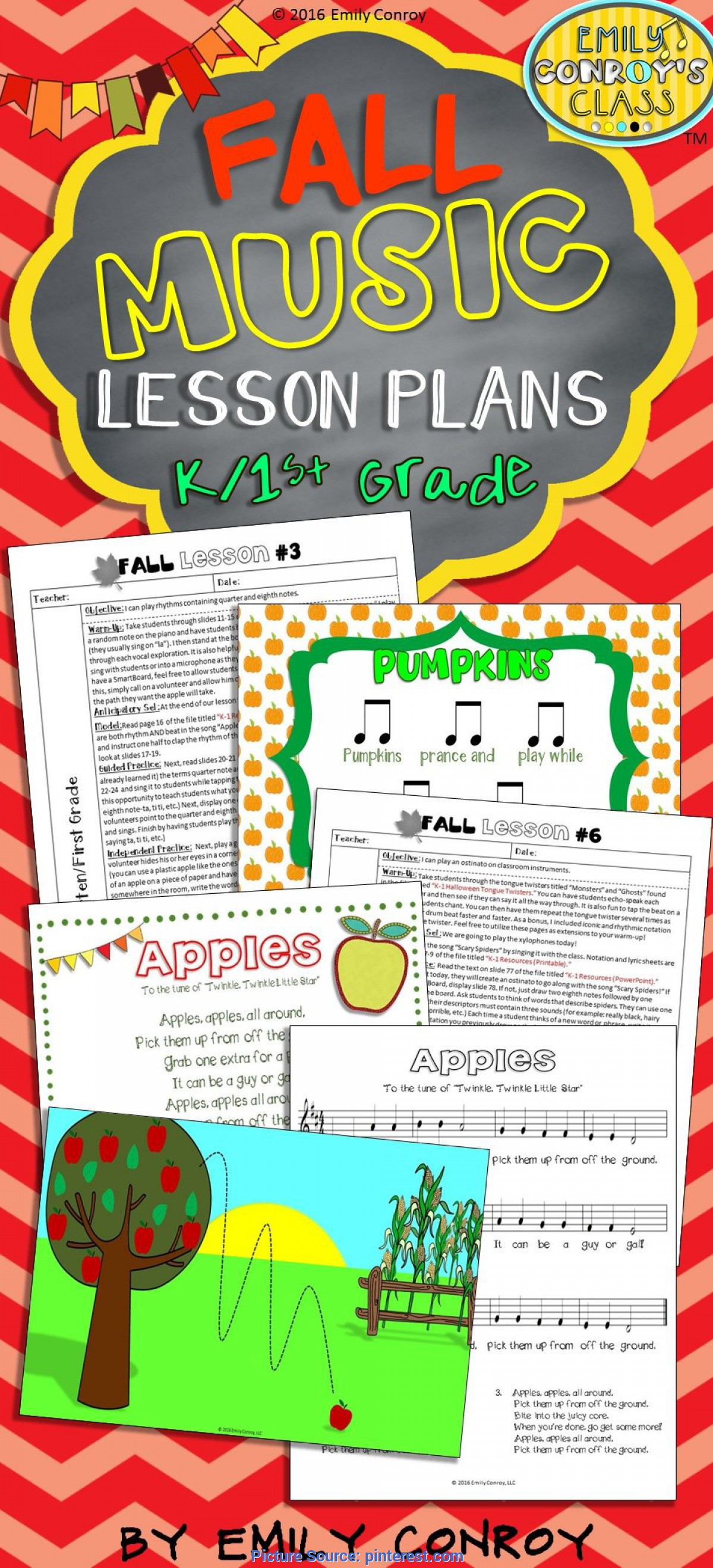 Interesting Math And Music Lesson Plans For Kindergarten Lessons For Music (Fall Music Lesson Plans For K/1St Grade