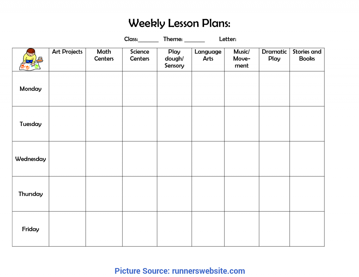 Newest Lesson Plan Template For Toddlers Lesson Plan Template Doc Drawing Dreamy Toddler Plans Fo