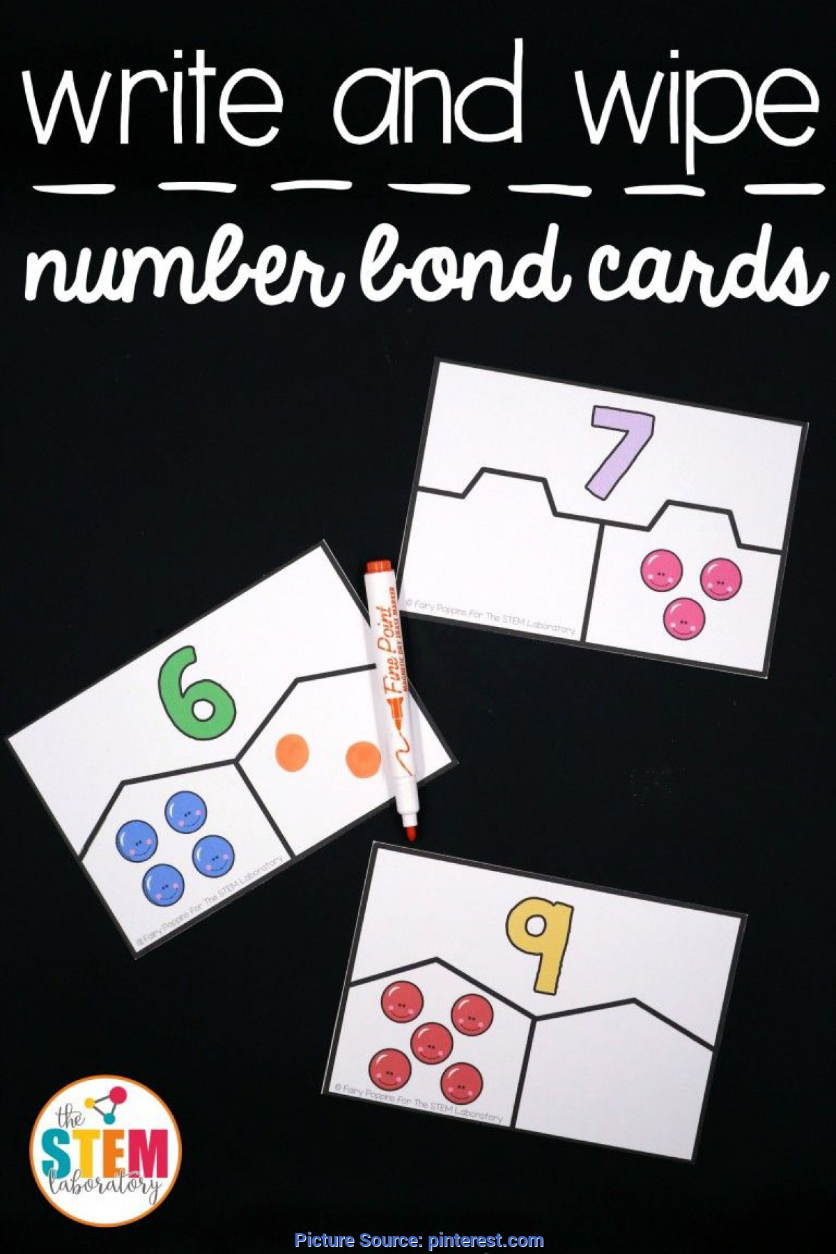 Regular Addition And Subtraction Lesson Plans For Kindergarten Free Write And Wipe Number Bond Cards! Fun Addition An