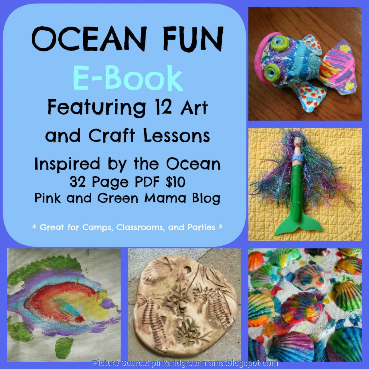 Simple Arts And Crafts Lessons Pink And Green Mama: Pink And Green Mama Crafts: Ocean Fun Ar