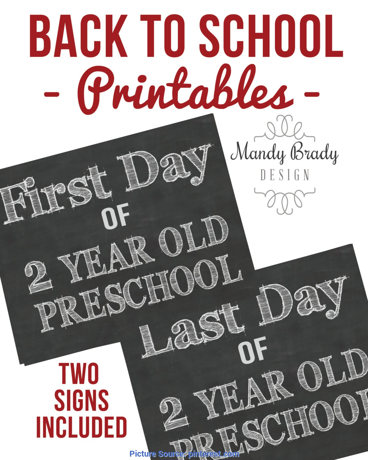 Simple Free Preschool For 2 Year Olds Two Year Old Preschool Chalkboard Sign, 2 Year Old Preschoo