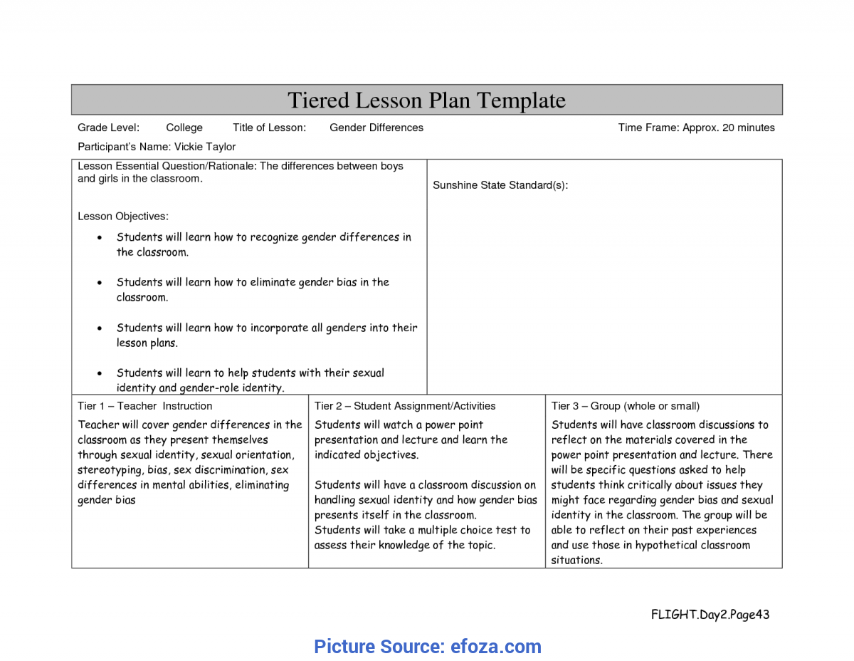 Simple Lesson Plan Templates College Level 9 Best Images Of Tiered Lesson Plans Activities - Tiered Lesso