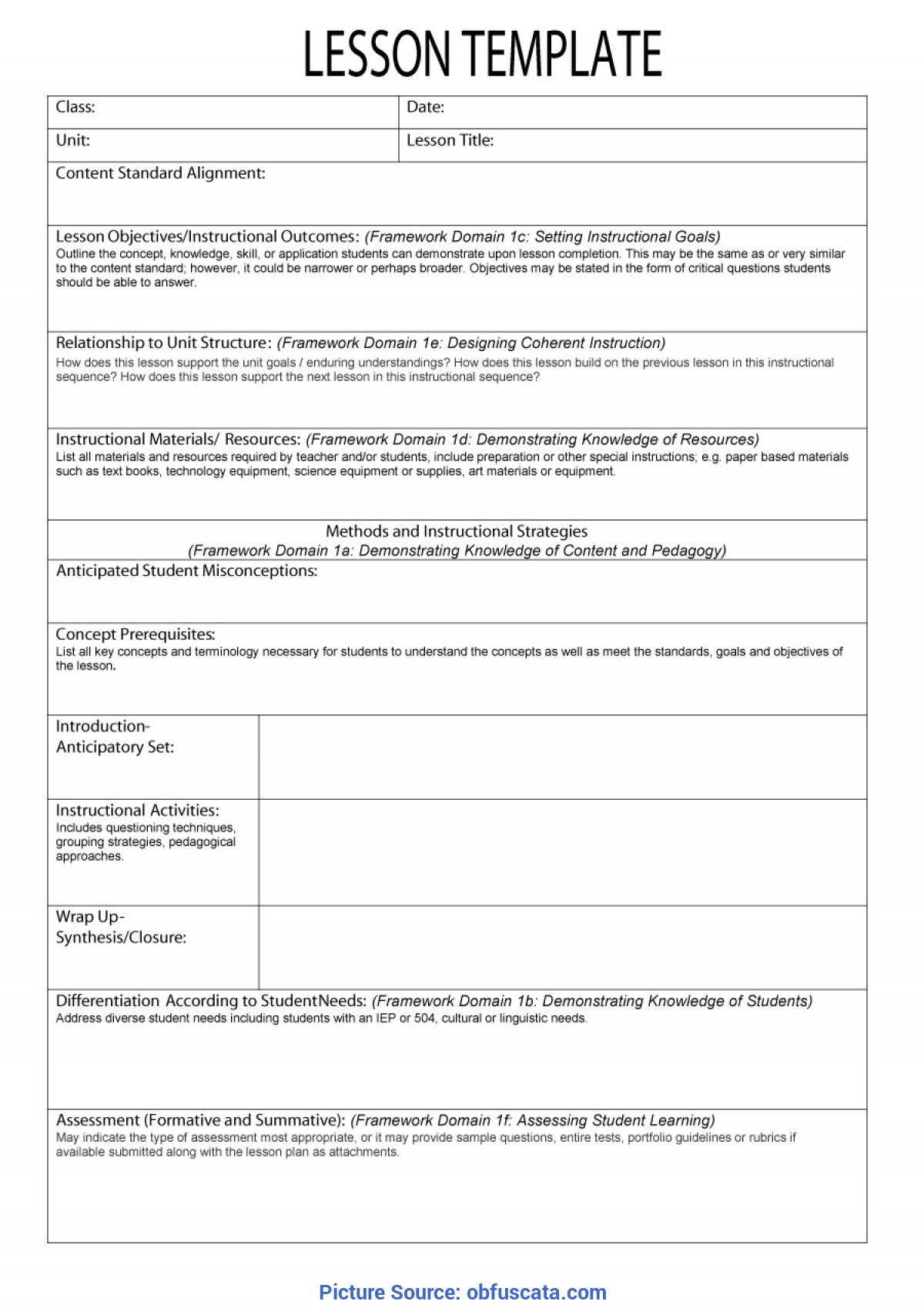Special Lesson Plan Template With Objectives What Is Lesson Plan Templ