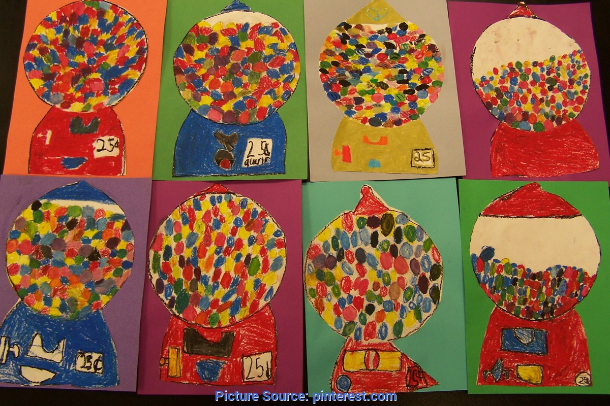 Special Primary Art Lessons Nice Color Mixing Lesson. Students Make Gum Balls Using Only Th