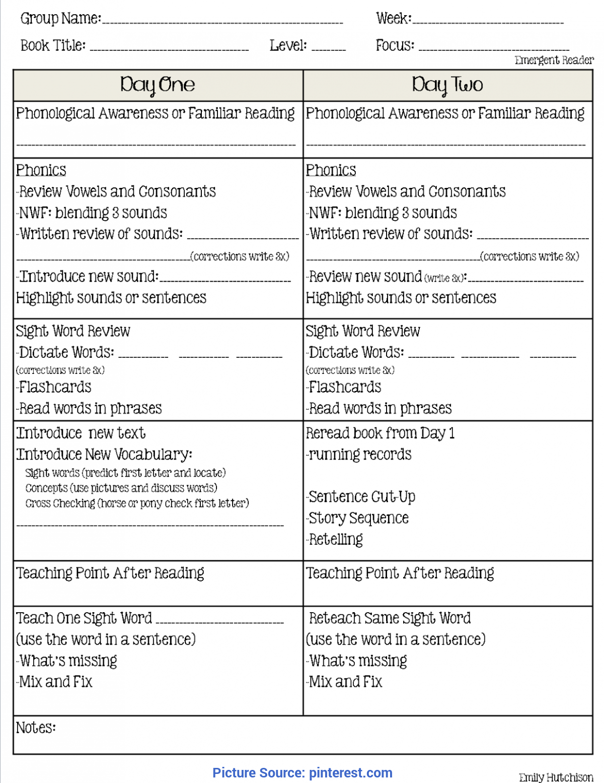 Special Reading Recovery Lesson Plan Guided Reading Format: A Second Look (Curious Firsties) | Guide