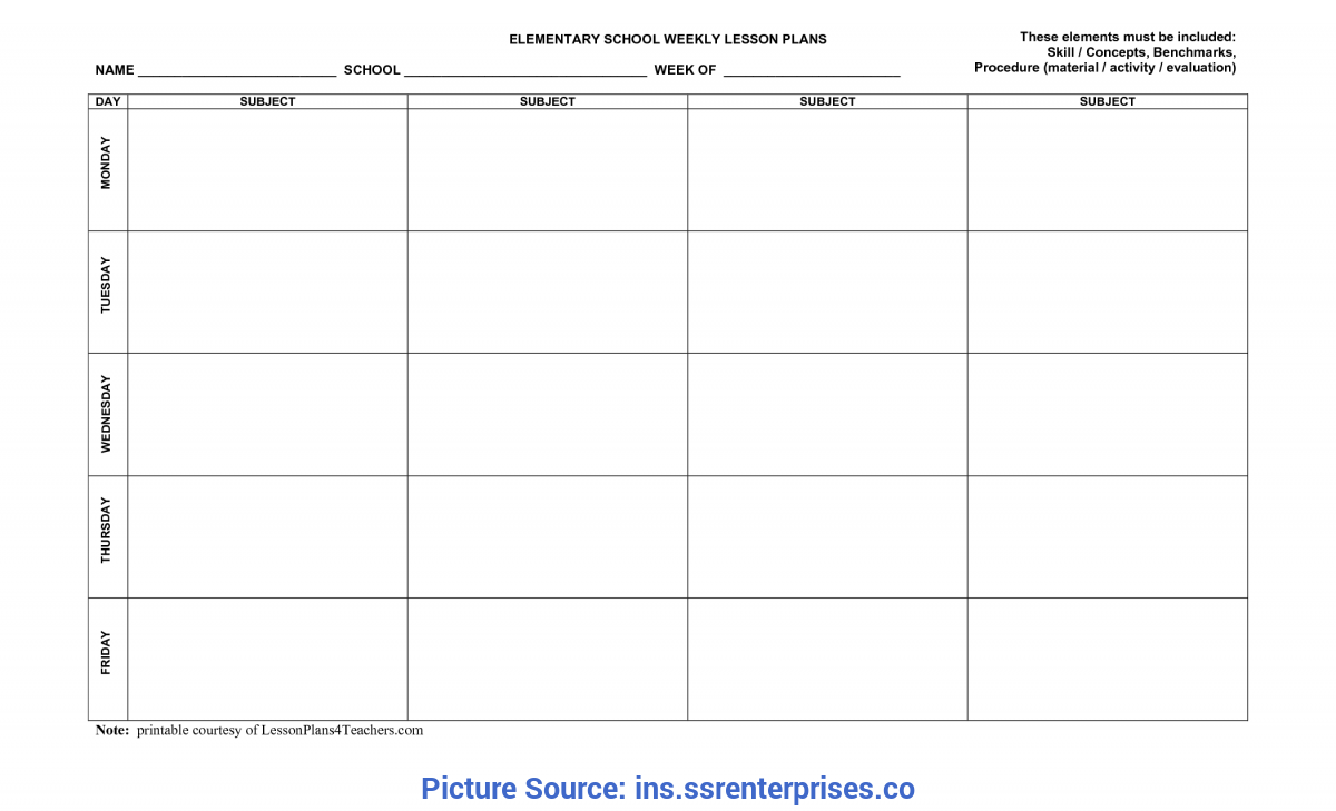Special Weekly Lesson Plan Template Uk Lesson Plan Blank Template - Ins.Ssrenterprise