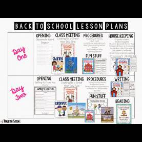 Best First Week Of First Grade Lesson Plans Fourth And Ten: My Back To School Lesson P