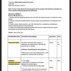 Best Lesson Plan Aims And Objectives Lesson Plans - A4 €? Matthew Es