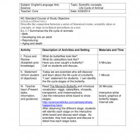 Best Lesson Plan For Science Class 6 6 Point Lesson Plan Sample - Butterfly | Got Class? | Pinteres