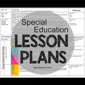 Best Lesson Plan For Teaching Phonics The Bender Bunch: Special Education Lesson P