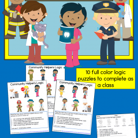 Best Lesson Plan On Community Helpers For Second Grade Teach Your Students The Process Of Elimination With A Communit