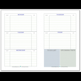Best Weekly School Planner Template Getting Ready For Back To School - Student Planner Printa