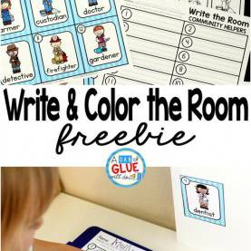 Briliant Community Helpers Unit First Grade Community Helpers Write And Color The Room | Community Helper