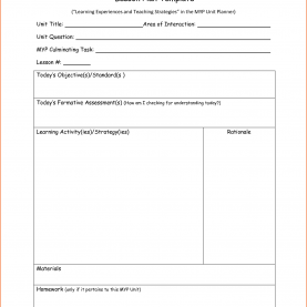 Briliant Daily Lesson Plan 6+ Daily Lesson Plan Template - Bookletemplate