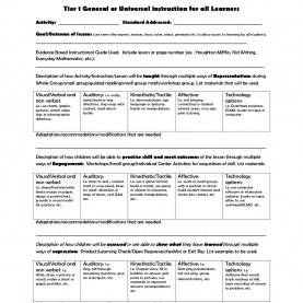 Briliant Examples Of Mastery Learning Lesson Plans Tiered-Lesson-Plan-Template By Letitia Wilburn Via Slideshar