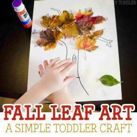 Briliant Leaf Projects For Toddlers Fall Leaf Craft - Busy Tod