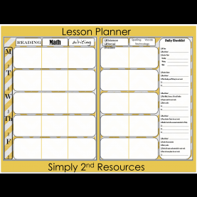 Briliant Lesson Plan Books For Elementary Teachers Lesson Planner Pages - Ins.Ssrenterprise