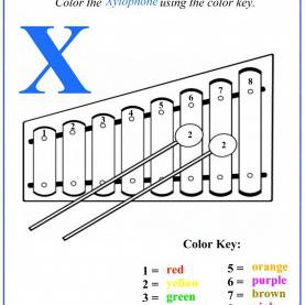 Briliant Lesson Plan Letter X Letter X Color By Number Activity | Books Worth Readin