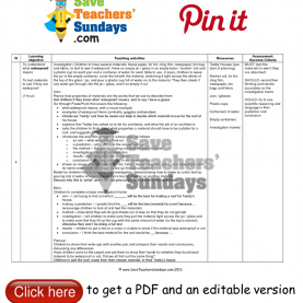 Briliant Lesson Plans For Teachers Year 1 Waterproof Investigation Lesson Plan. Go To Http://ww