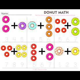 Briliant Mathematics For Preschool Donut Math Preschool Worksheet From Abcpreschoolbox.Com | Fre