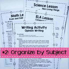 Complex Emergency Sub Plans Middle School Science Six Simple Steps For Organized Emergency Sub P