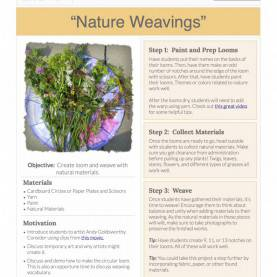 Complex Free Lesson Plan App Nature Weavings: Free Lesson Plan Download - The Art O