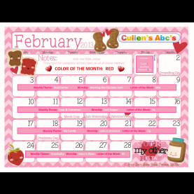 Complex Lesson Plans For Toddlers For The Month Of February Preschool Calendars | Online Preschool And Children'S Videos B
