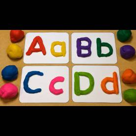Complex Nursery Learning Activities Playdough Letter Tracing Preschool Learning Activity - You