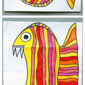 Complex Quick Art Activities For Primary School Surprise Ferocious Beings Paper Project | Paper Art Projects, Eas