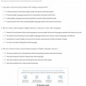 Complex Reading Lesson Plans For Intermediate Esl Students Quiz & Worksheet - Differentiation For Teaching Ell   Study