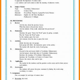 Complex Semi Detailed Lesson Plan Sample 9+ Lesson Plan Sample | Cover Title