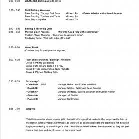 Excellent 45 Minute Lesson Plan Template Practice Plans €? Baseball Posi