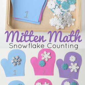 Excellent Ideas For Math Lesson Plans For Preschoolers Mitten Math Snowflake Counting For Preschoolers | Countin