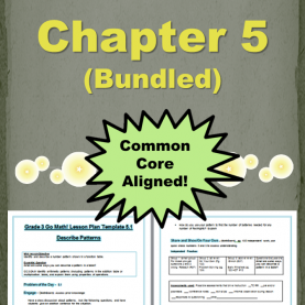 Excellent Lesson Plans For Go Math Kindergarten Go Math Grade 3 Chapter 5 Lesson Plans 5.1-5.5 (Bundled) | Journa