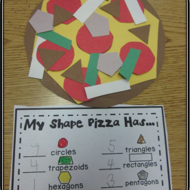 Excellent Math Lesson Plans For Kindergarten On Shapes First Grade Fairytales: Math Monday Linky - Shape Pizzas,