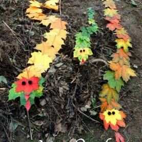 Excellent Outdoor Fall Activities For Preschoolers How To Make An Adorable Snake Craft With Fall Leaves | Snak