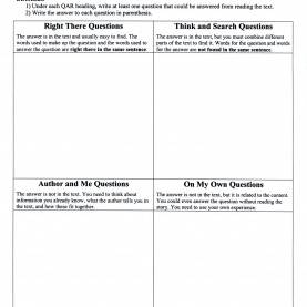 Excellent Qar Lesson Plans 3Rd Grade Qar - Developing Own Questions: This Strategy Should Be Used A