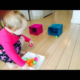 Fresh Activities For Two Year Olds Rolling Ping Pong Balls Into Boxes, Toddler Activities, Activitie