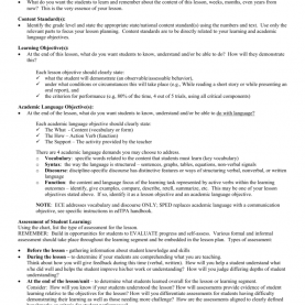 Fresh Different Objectives In Lesson Plan Lesson Plan Descrip