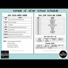 Fresh Lesson Plan Template After School Program My School Schedule Online - Commonpenc